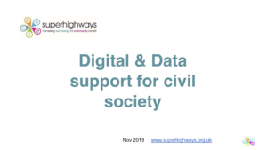 Digital and Data support for civil society presentation by Superhighways