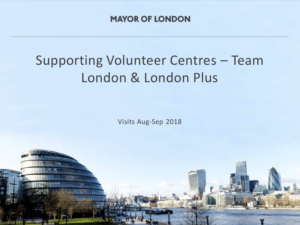 Supporting Volunteer Centres presentation by Team London and London Plus