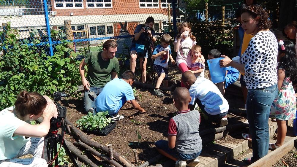 The Bridge Community Hut has it's own community garden and allotments.