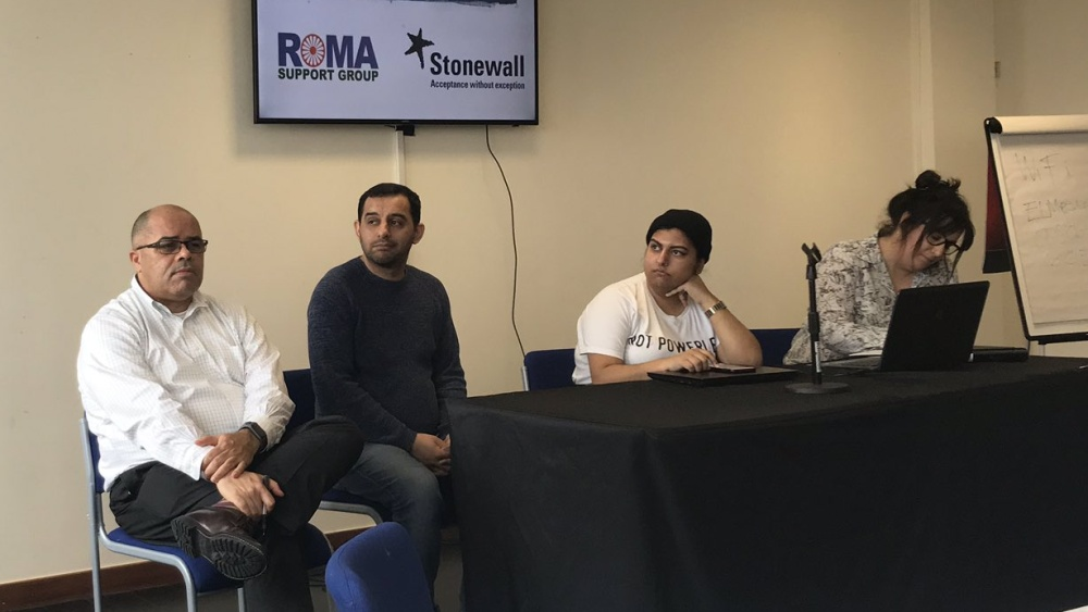 The data for everyone event enabled Stonewall and the Roma support group to discuss about the importance of having good equality data.