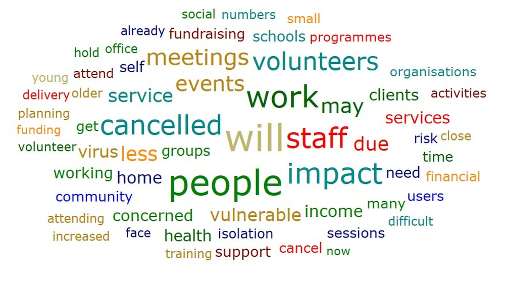 The cloud combines textual data from of our COVID19 impact survey number 2