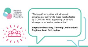 Stephanie McKinley quote from London Plus for the Thriving Communities Programme launch
