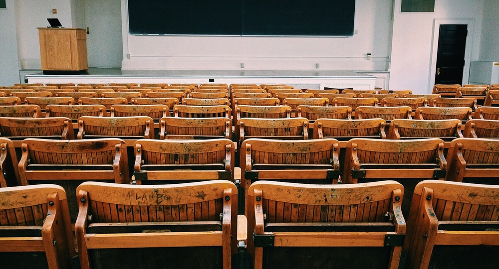 A room of empty chairs, suggesting a training event.