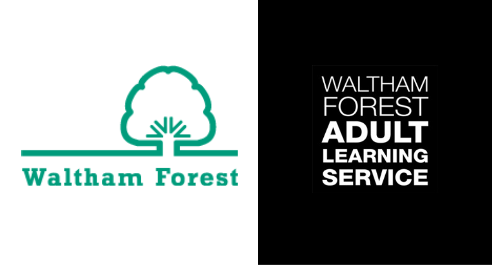 Waltham Forest Council and Waltham Forest Adult Learning Service logo.