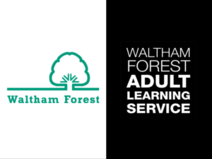 Waltham Forest and Adult Learning Service logos.
